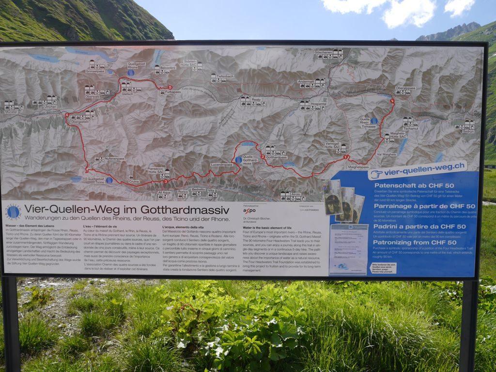 Oberalppass Schweiz 4-Quellen-Weg