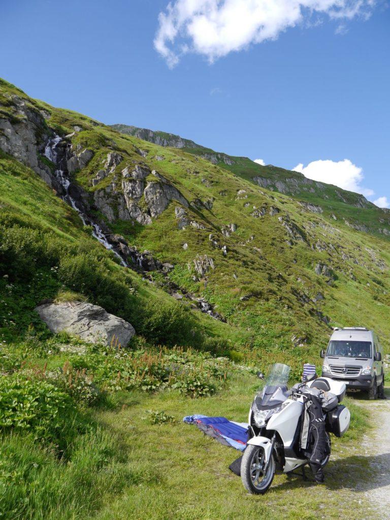 Oberalppass Schweiz Gebirgswasser