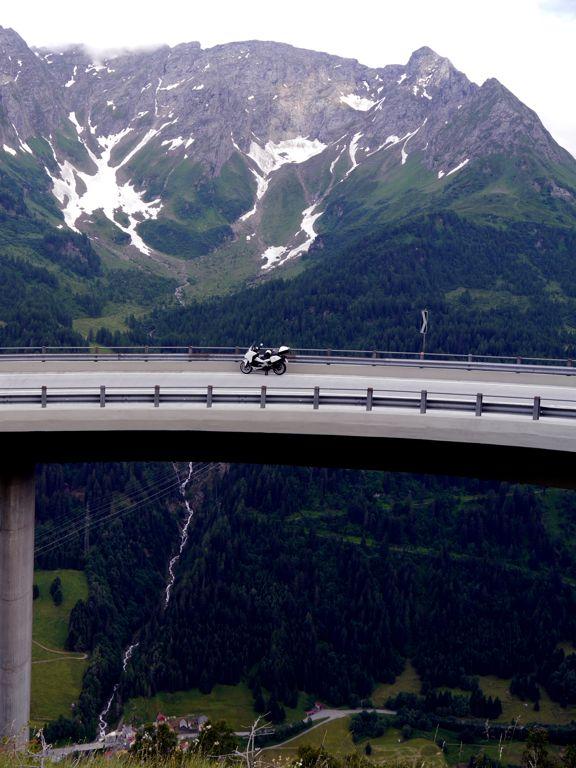 Gotthard - Bedretto-Kurve - Totalansicht